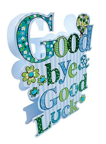 Paper Dazzle Good Bye & Good Luck Leaving Greeting Card Glitter Finished PDZ040