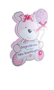 Paper Dazzle Birth New Baby Granddaughter 3D Congratulations Greeting Card PDZ033