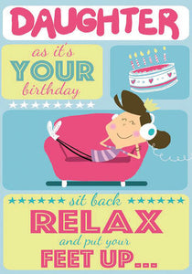 Funny Put Your Feet Up Daughter Birthday Card