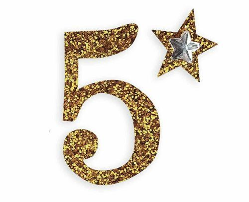 self adhesive, Gold number 5, Topper