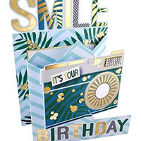 Cutting Edge Smile It's Your Birthday 3D Cutting Edge Birthday Card Foiled Greeting Cards DCE004