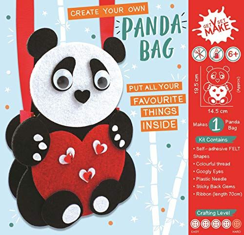 Get Set Make Create Your Felt Panda Bag