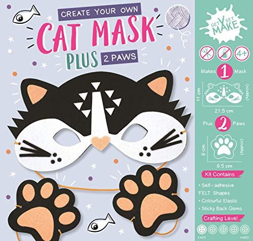 Get Set Make Create Your Own Felt Cat Mask and Paws