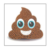 Crystal Art Poo Emoji Sticker 9x9cm
