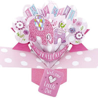 Second Nature New Baby Girl Pop Up Card