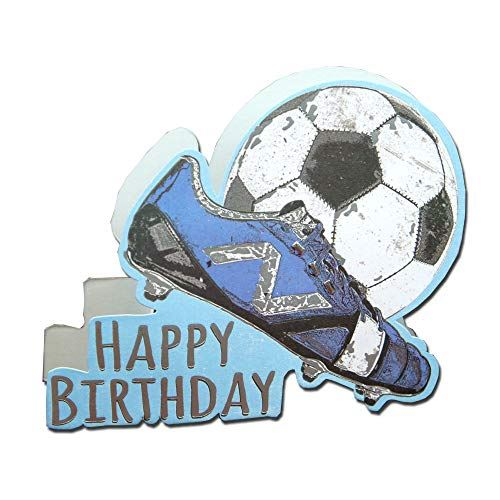 Paper Dazzle Football Happy Birthday 3D Birthday Greeting Card Glitter Finished PDZ014