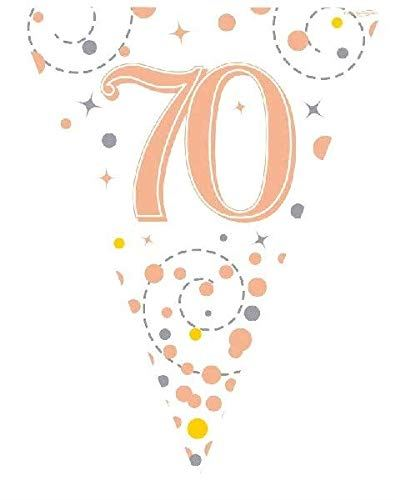 Sparkling Rose Gold 70th Bunting