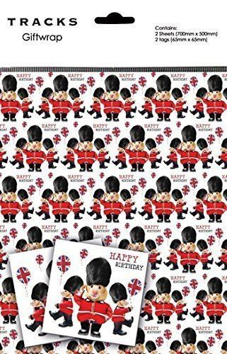 Queens Guard Hamsters Gift Wrap With Matching Tags 2 Sheets + 2 Tags