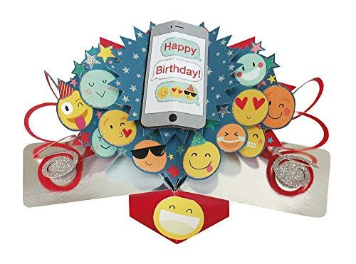 Second Nature Pop Up Birthday Card with Emoji's