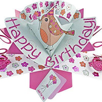 Suki Gifts International Pop Up Card Happy Birthday Bird, Multi-Colour, 13 x 21 x 19 cm