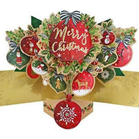 Pop Up Card with Baubles and Merry Christmas Lettering