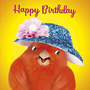 Canary in Hat Greeting Card Lenticular 3D
