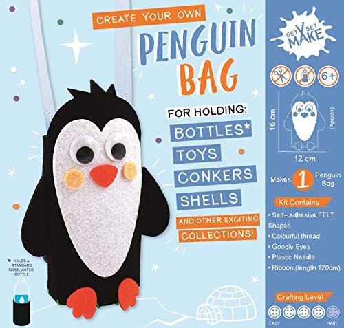Get Set Make Create Your Own Penguin Bag/Bottle Holder