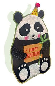 Paper Dazzle Panda Happy Birthday 3D Birthday Greeting Card Glitter Finished PDZ001