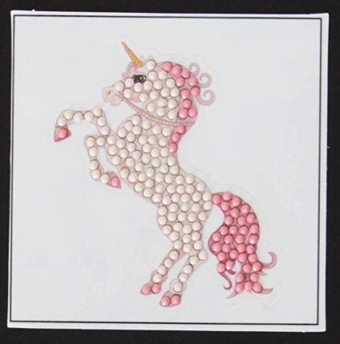 Crystal Art Fairy-tale Unicorn Sticker 9x9cm