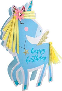 Paper Dazzle Unicorn Happy Birthday 3D Birthday Greeting Card Glitter Finished PDZ023