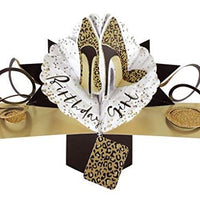 Second Nature Birthday Pop Up Card with Leopard Print Shoes, POP177A