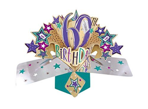 Second Nature 60th Birthday Pop Up Card