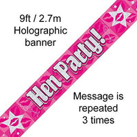 Holographic Hen Party Night Do Banner Decoration - 2.7m long