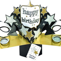 Suki Gifts International Pop Up Card Happy Birthday Stars, Multi-Colour, 13 x 21 x 19 cm