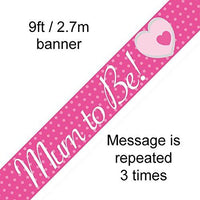 9ft-2.7m Banner Mum to Be
