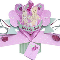 Suki Gifts International Pop Up Card Lots of Love, Multi-Colour, 13 x 21 x 19 cm