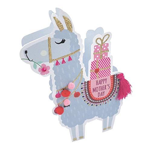 Paper Dazzle Llama Happy Mother's Day 3D Greeting Card Glitter Finished MPDZ003