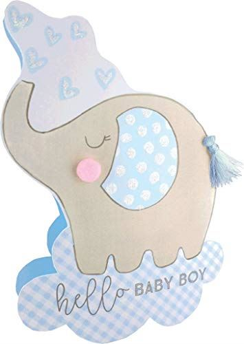 Paper Dazzle Birth New Baby Boy 3D Congratulations Greeting Card Glittered PDZ031