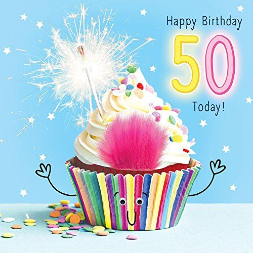 50th Birthday Sparkle Cupcake - Fluff & Goggly Eyes