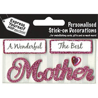 self adhesive, Mother (Pink) Caption Topper