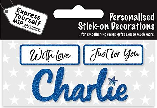 self adhesive Blue Male Name 'Charlie' Sticker