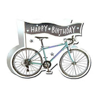 Paper Dazzle Bicycle Happy Birthday 3D Birthday Greeting Card Glitter Finished PDZ017