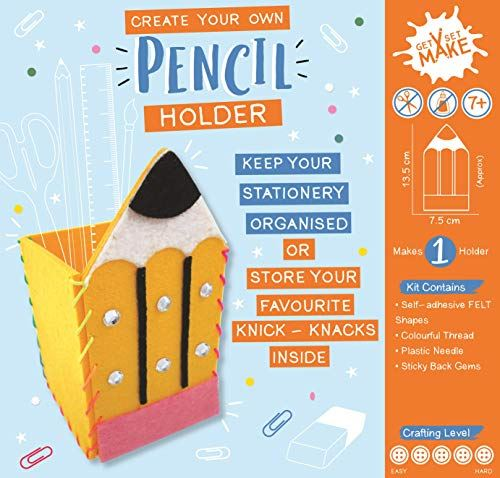 Get Set Make Create Your Own Felt Pencil Holder
