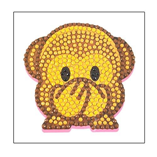 Crystal Art Cheeky Monkey Sticker 9x9cm