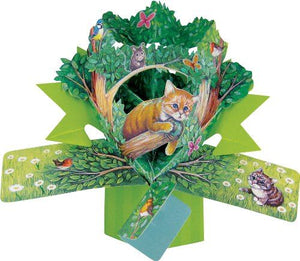 Second Nature Pop Up Card with a Cat