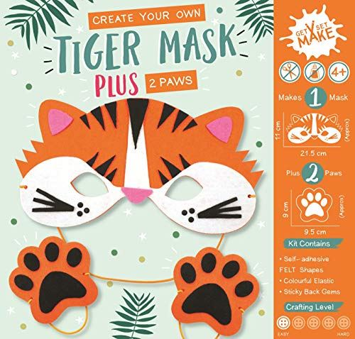 Get Set Make Create Your Own Felt Tiger Mask and Paws