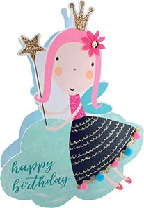 Paper Dazzle Fairy Happy Birthday 3D Birthday Greeting Card Glitter Finished PDZ022