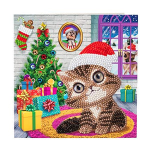 Crystal Art Cozy KittenCrystal Art Card