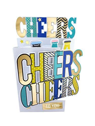 Cutting Edge Cheers to You 3D Cutting Edge Birthday Card Foiled Greeting Cards DCE010
