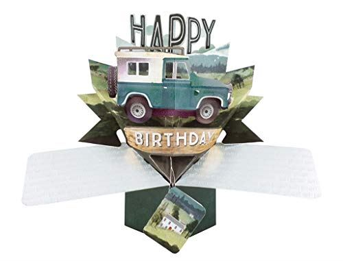 Second Nature Pop Up Birthday Card with an SUV