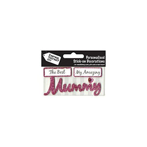 self adhesive, Mummy (Pink) Caption Topper