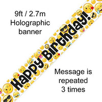 Emoji Happy Birthday Banner 9FT