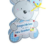 Paper Dazzle Birth New Baby Grandson 3D Congratulations Greeting Card PDZ034