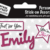 self adhesive Pink Female Name 'Emily' Sticker