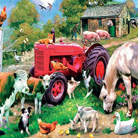 Farmyard Animals Blank Greeting Card Lenticular 3D
