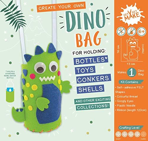 Get Set Make Create Your Own Dinosaur Bag/Bottle Holder