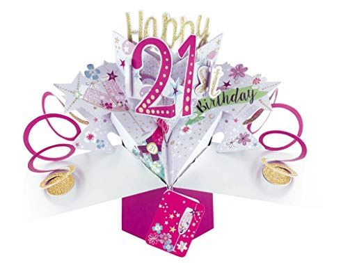 Second Nature Female 21st Birthday Pop Up Card