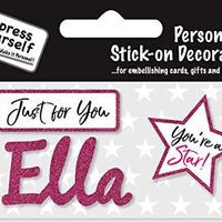 self adhesive Pink Female Name 'Ella' Sticker