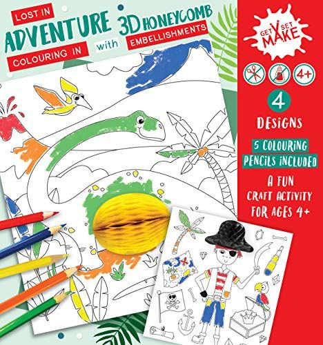 Lost in Adventure Get Set Make Colouring in Set with Honeycombs