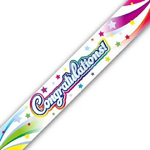 OakTree Congratulations Swirl Banner, Multi-Colour, 2.7m Long